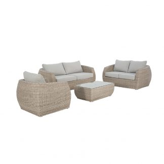 Ella 3 Seater + 2 Seater + Armchair + Coffee Table