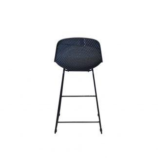 AOL GARDENIA BAR CHAIR BACK gunmetal