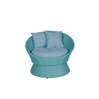Javier blue chair front