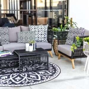 Archipelago Tribeca black lounge set